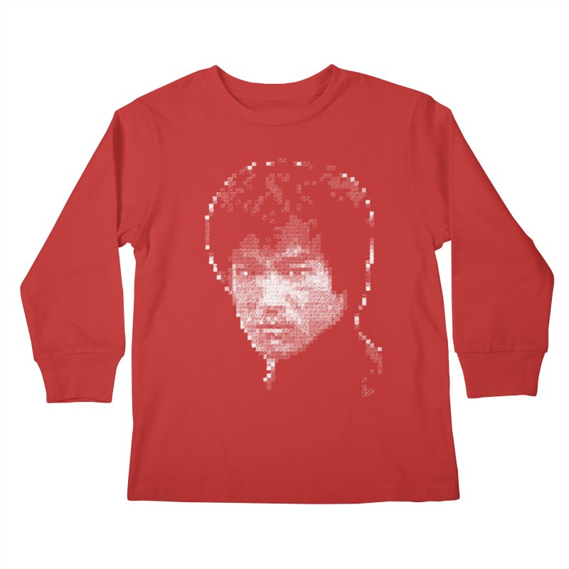 Bruce Lee (White on Dark) Kids Longsleeve T-Shirt by dgeph's artist shop