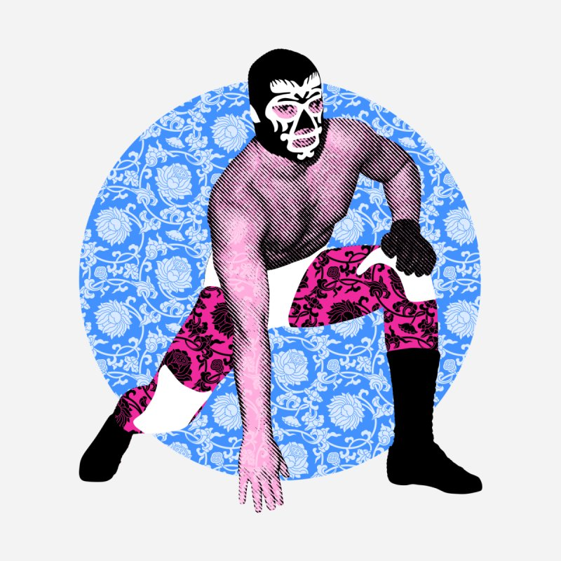 Luchador 3 Men's T-Shirt by dgeph's artist shop