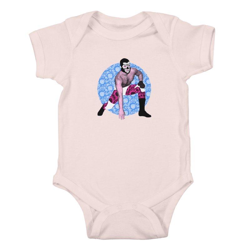 Luchador 3 Kids Baby Bodysuit by dgeph's artist shop