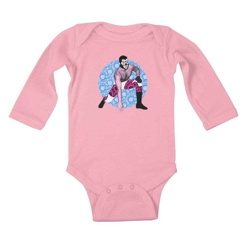 Luchador 3 Kids Baby Longsleeve Bodysuit by dgeph's artist shop
