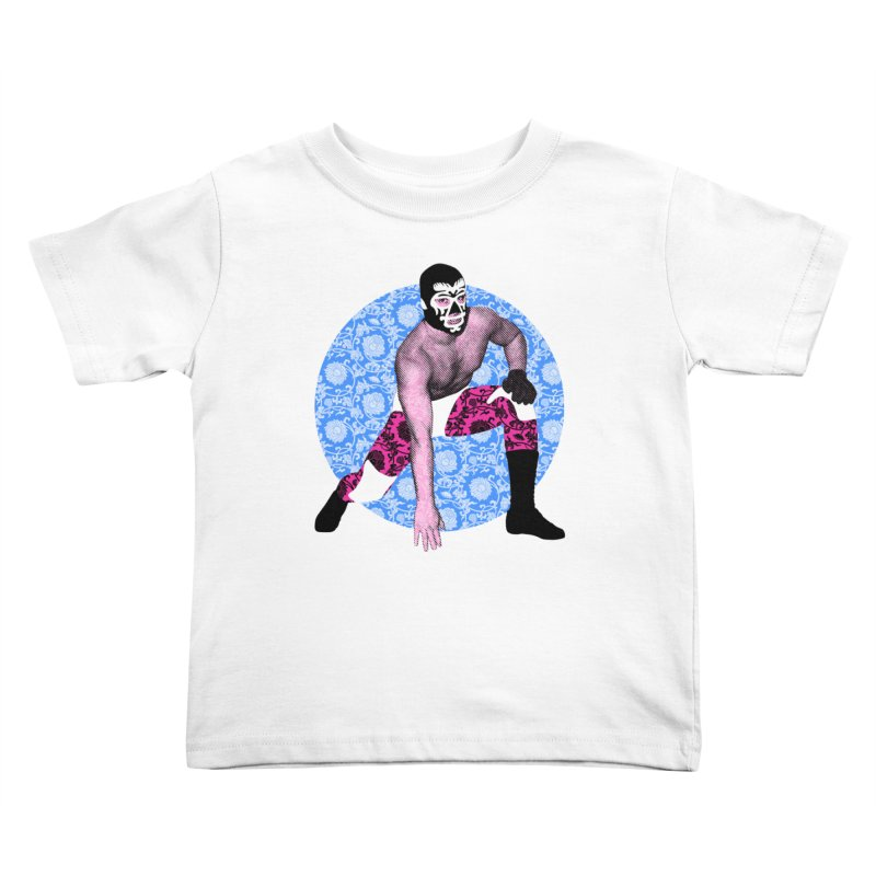 Luchador 3 Kids Toddler T-Shirt by dgeph's artist shop