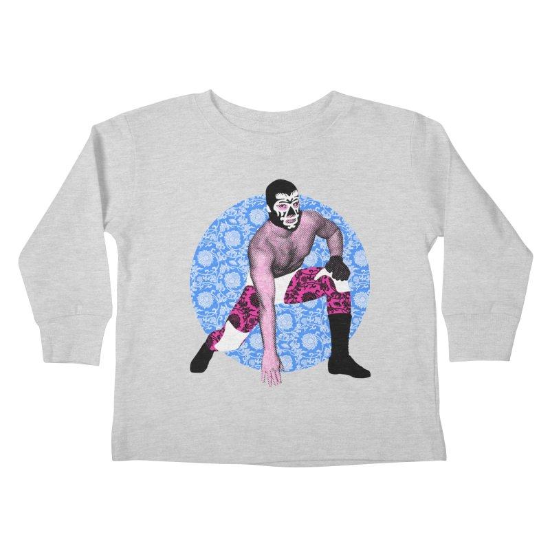 Luchador 3 Kids Toddler Longsleeve T-Shirt by dgeph's artist shop