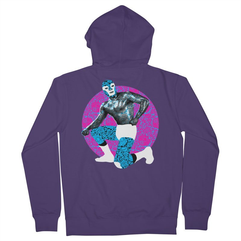 Luchador 2 Women's Zip-Up Hoody by dgeph's artist shop