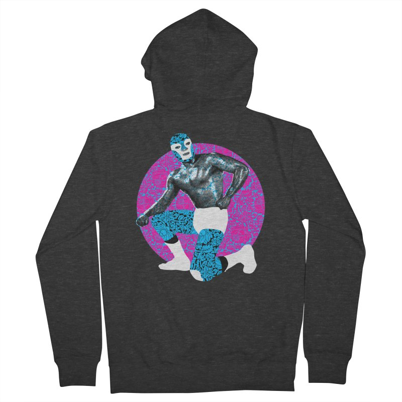 Luchador 2 Men's Zip-Up Hoody by dgeph's artist shop
