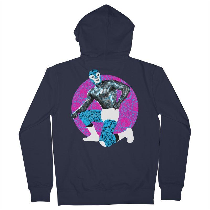 Luchador 2 Men's Zip-Up Hoody by dgeph's artist shop