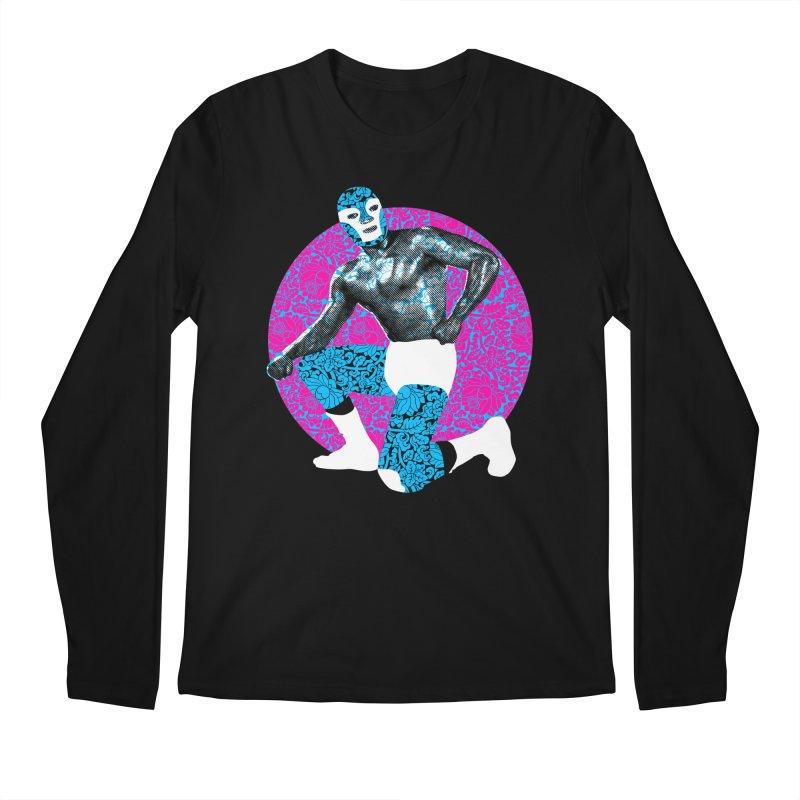 Luchador 2 Men's Longsleeve T-Shirt by dgeph's artist shop