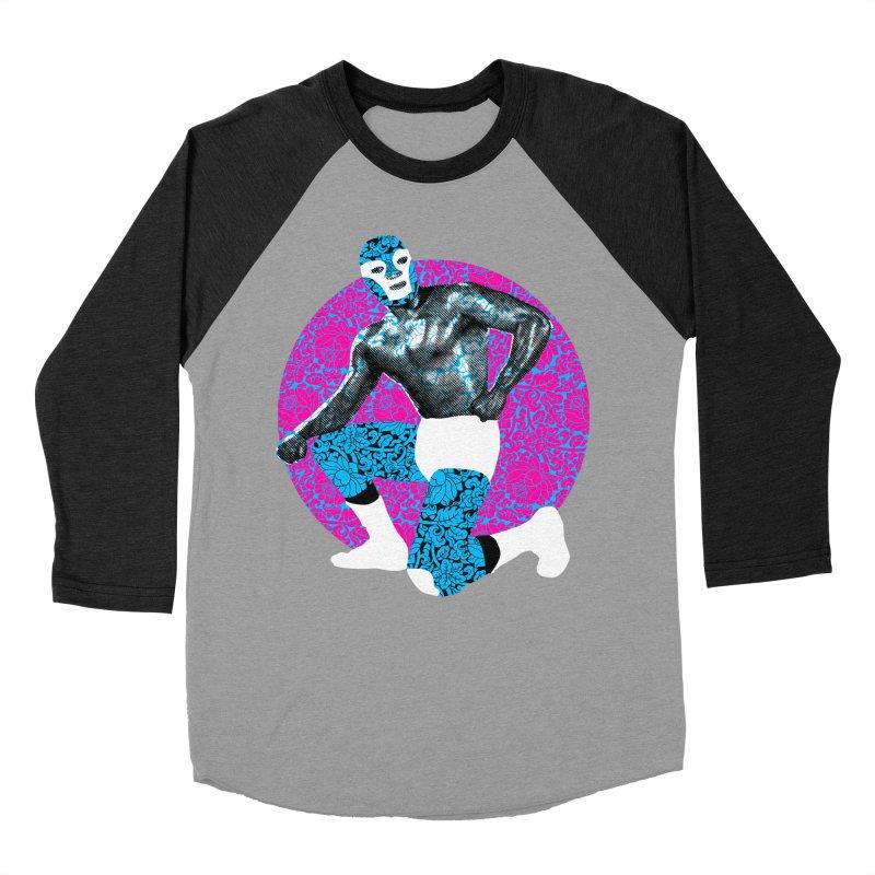 Luchador 2 Men's Baseball Triblend T-Shirt by dgeph's artist shop