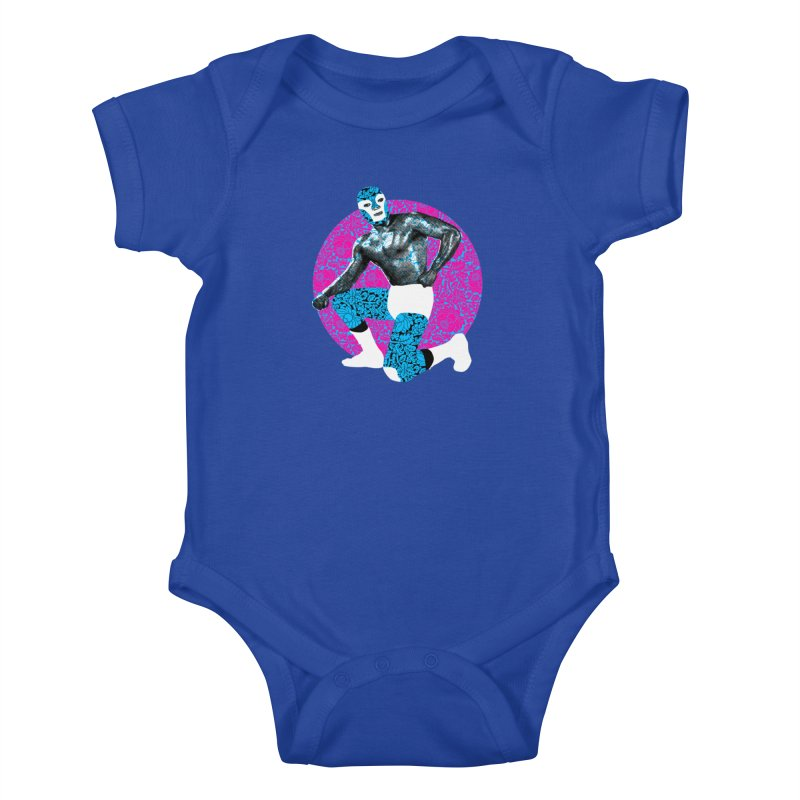 Luchador 2 Kids Baby Bodysuit by dgeph's artist shop
