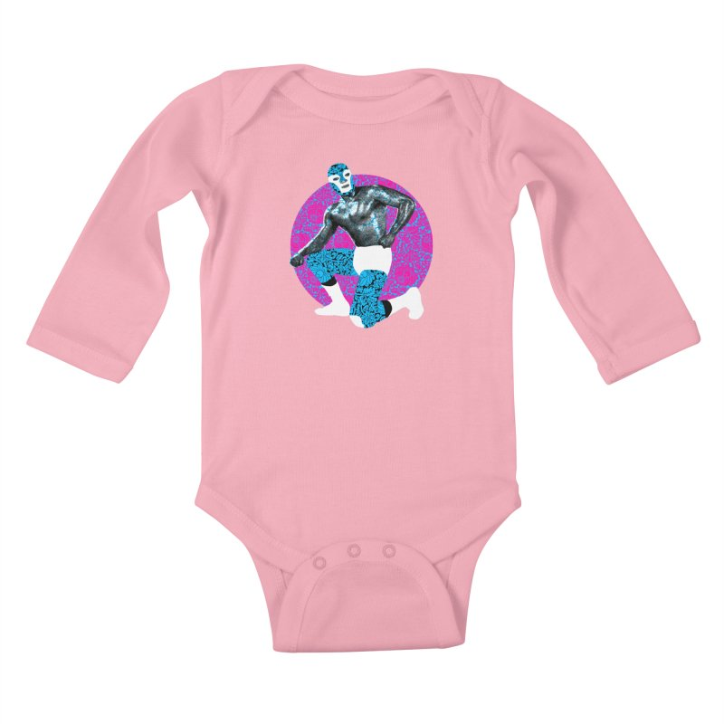 Luchador 2 Kids Baby Longsleeve Bodysuit by dgeph's artist shop