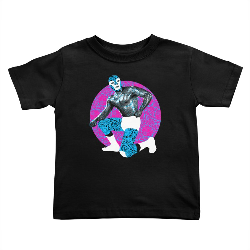 Luchador 2 Kids Toddler T-Shirt by dgeph's artist shop