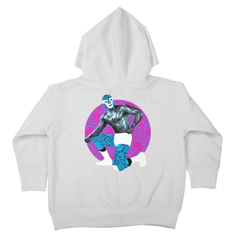 Luchador 2 Kids Toddler Zip-Up Hoody by dgeph's artist shop