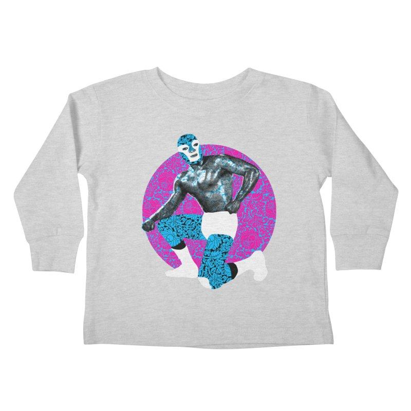 Luchador 2 Kids Toddler Longsleeve T-Shirt by dgeph's artist shop