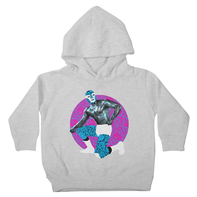 Luchador 2 Kids Toddler Pullover Hoody by dgeph's artist shop
