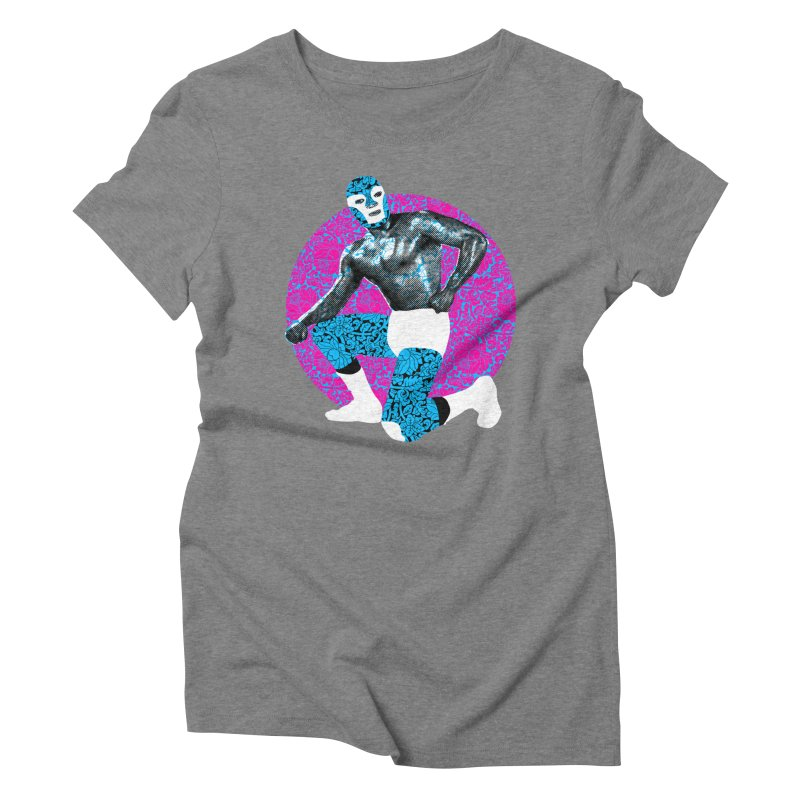 Luchador 2 Women's Triblend T-Shirt by dgeph's artist shop