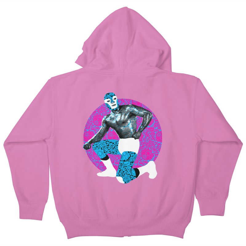 Luchador 2 Kids Zip-Up Hoody by dgeph's artist shop