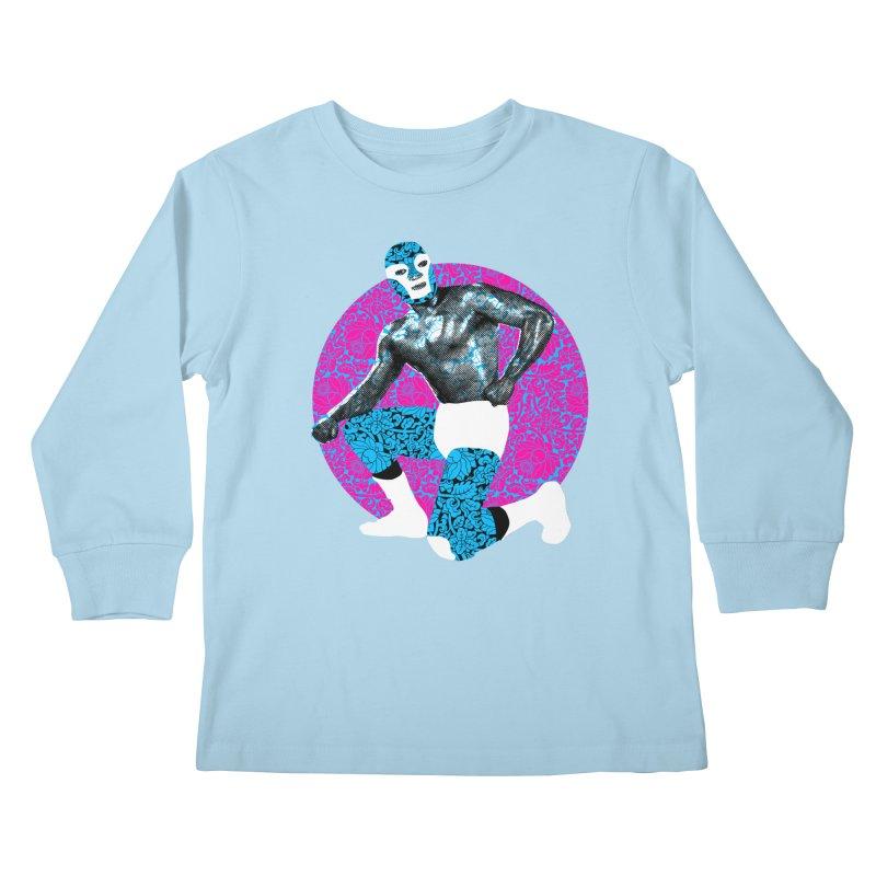 Luchador 2 Kids Longsleeve T-Shirt by dgeph's artist shop