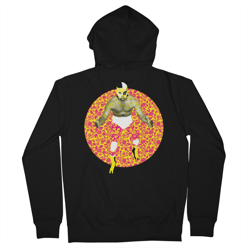 Luchador 1 Women's Zip-Up Hoody by dgeph's artist shop