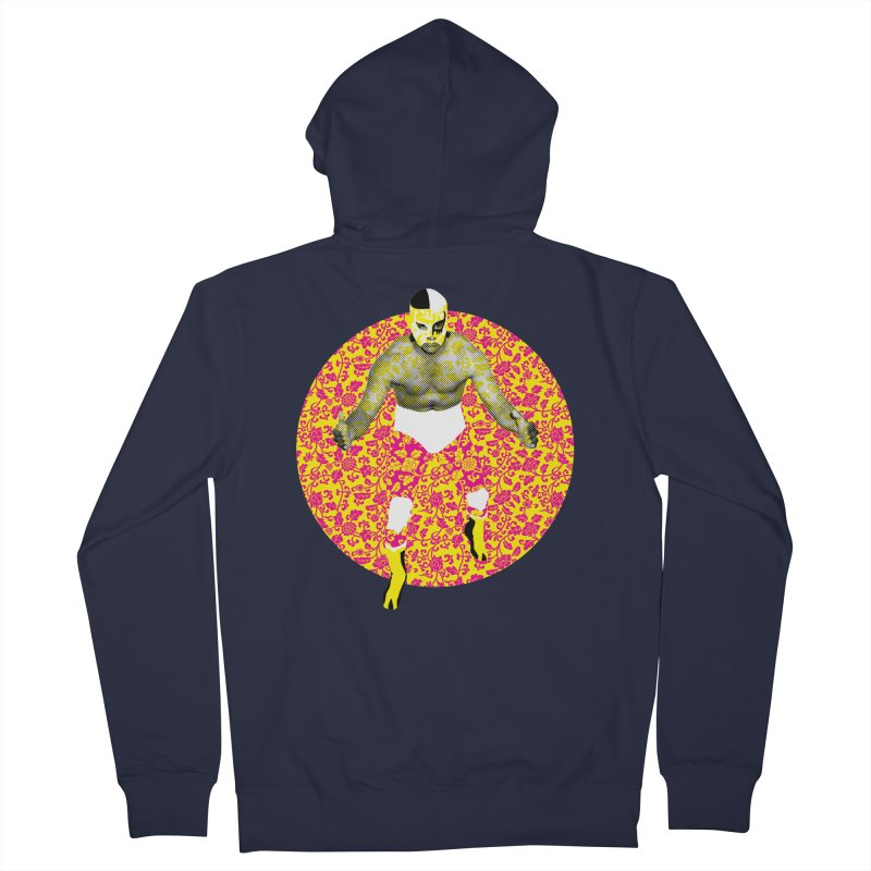 Luchador 1 Men's Zip-Up Hoody by dgeph's artist shop