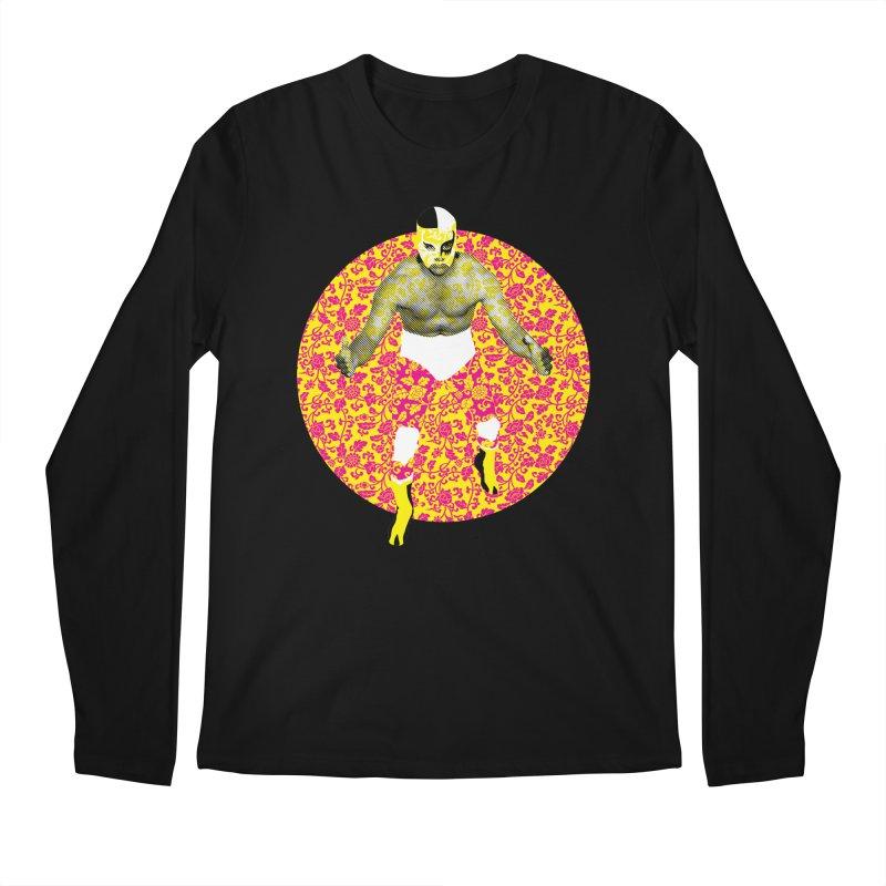 Luchador 1 Men's Longsleeve T-Shirt by dgeph's artist shop