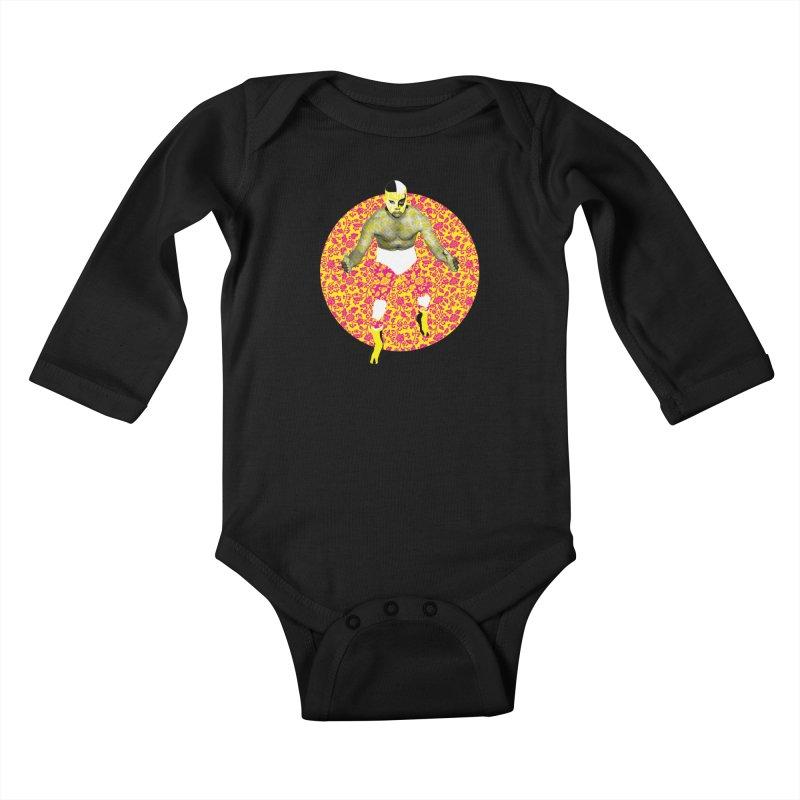 Luchador 1 Kids Baby Longsleeve Bodysuit by dgeph's artist shop
