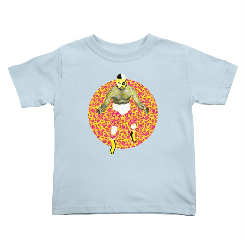 Luchador 1 Kids Toddler T-Shirt by dgeph's artist shop