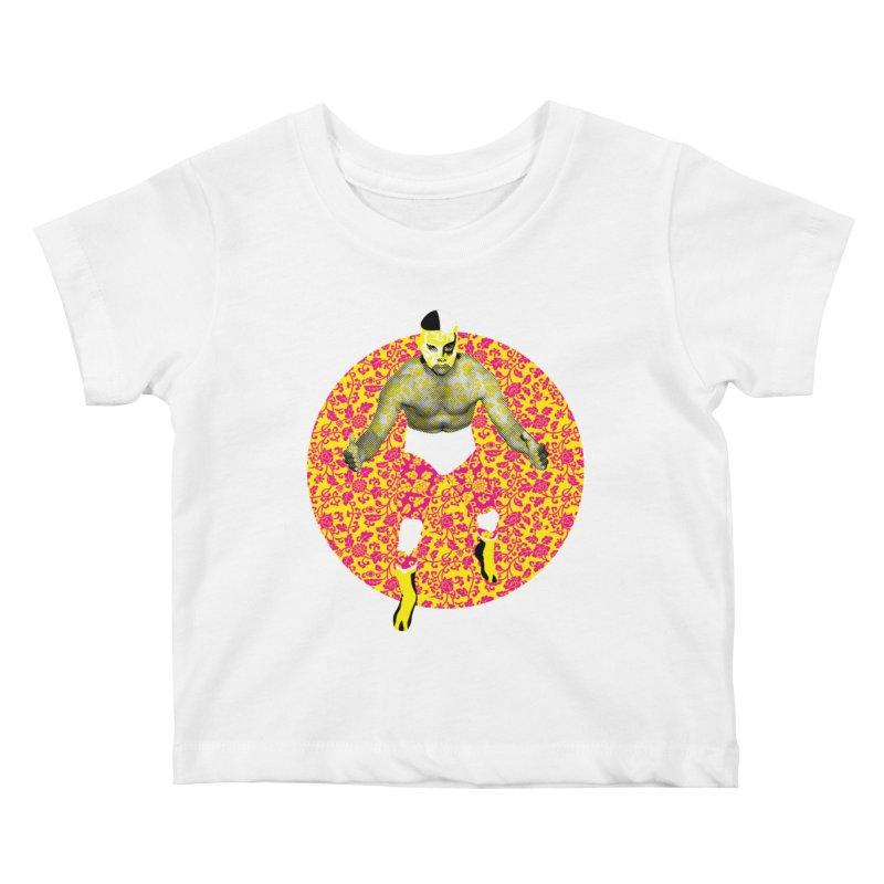 Luchador 1 Kids Baby T-Shirt by dgeph's artist shop