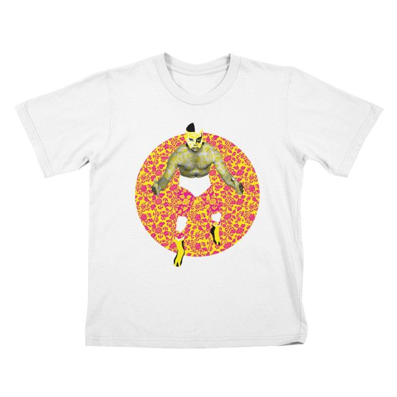 Luchador 1 Kids T-Shirt by dgeph's artist shop