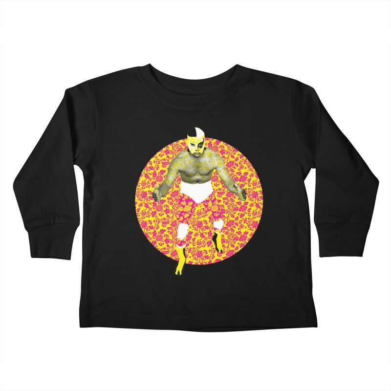 Luchador 1 Kids Toddler Longsleeve T-Shirt by dgeph's artist shop