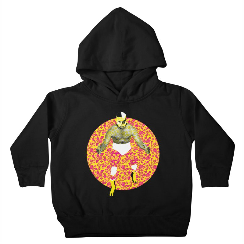 Luchador 1 Kids Toddler Pullover Hoody by dgeph's artist shop