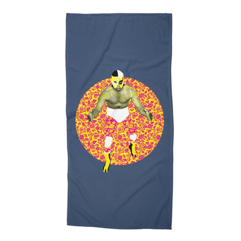 Luchador 1 Accessories Beach Towel by dgeph's artist shop