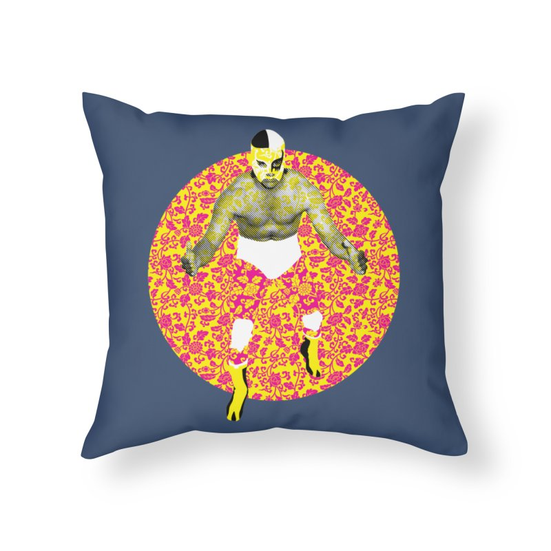 Luchador 1 Home Throw Pillow by dgeph's artist shop