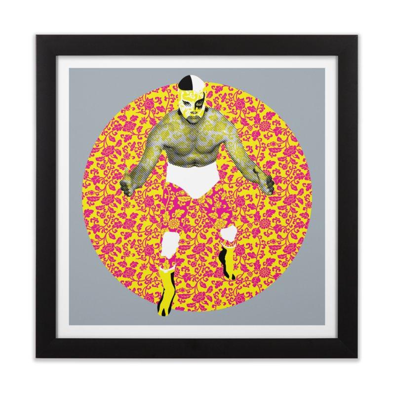 Luchador 1 Home Framed Fine Art Print by dgeph's artist shop