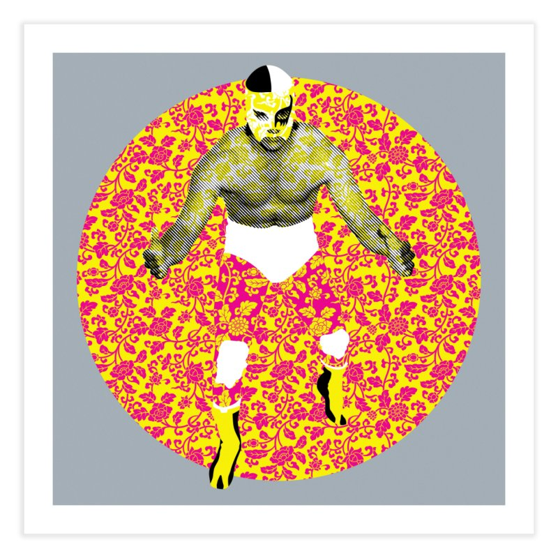 Luchador 1 Home Fine Art Print by dgeph's artist shop