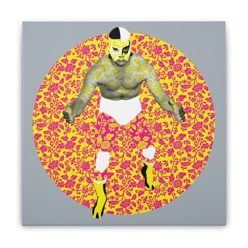 Luchador 1 Home Stretched Canvas by dgeph's artist shop
