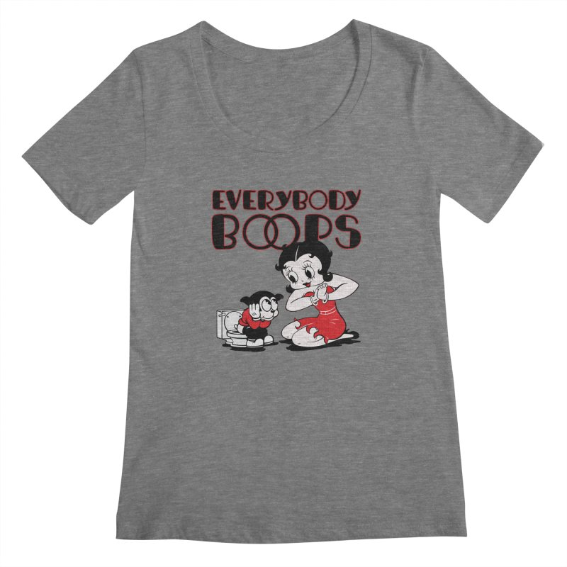 Everybody Boops 1 Women's Scoopneck by dgeph's artist shop