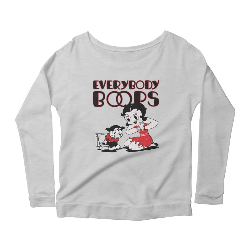 Everybody Boops 1 Women's Longsleeve Scoopneck  by dgeph's artist shop