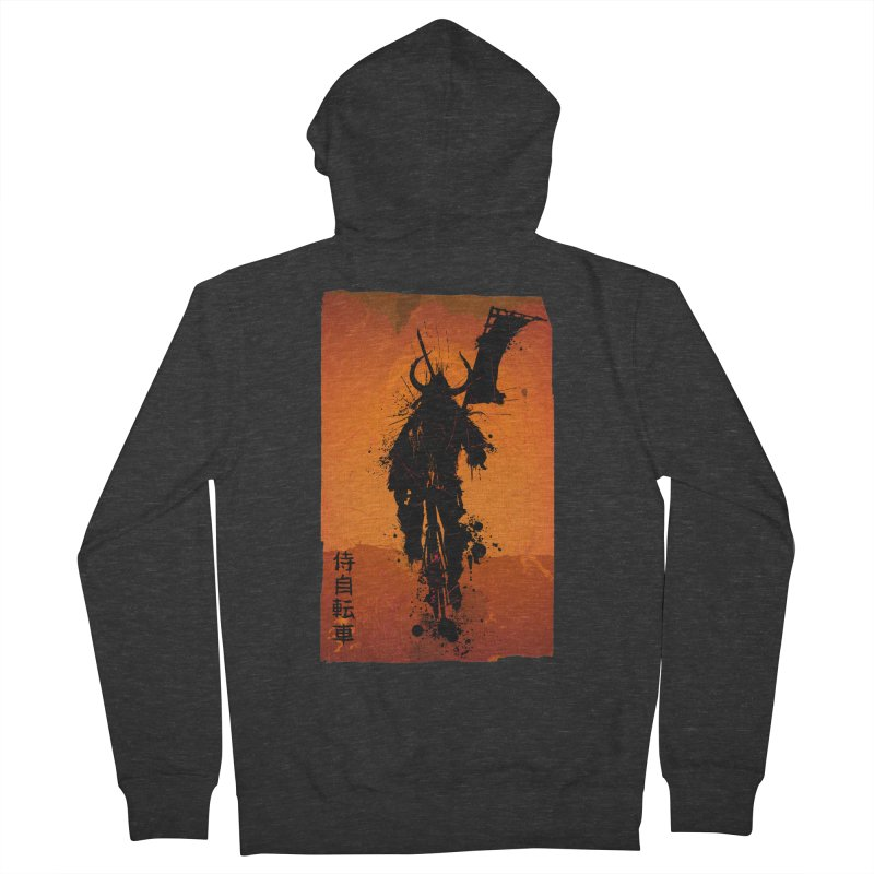 Bike Samurai Men's Zip-Up Hoody by dgeph's artist shop