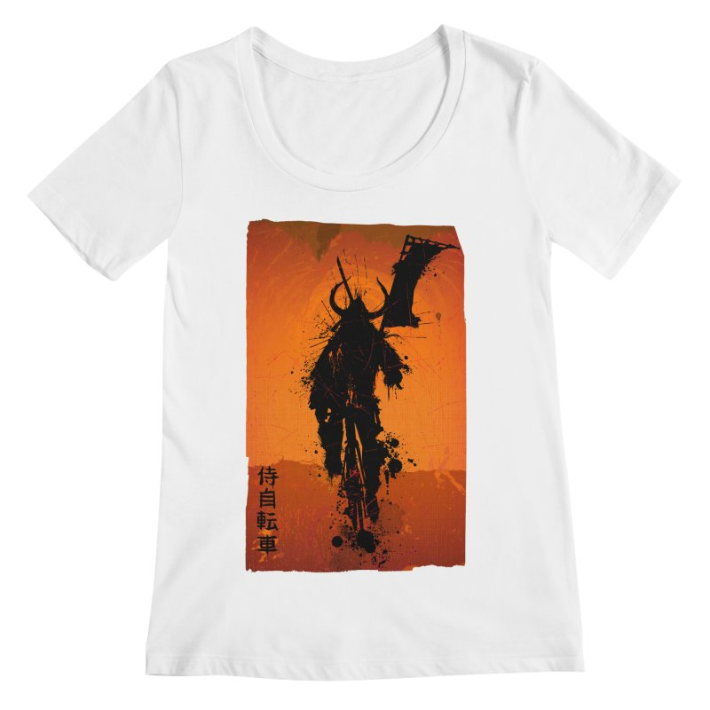 Bike Samurai Women's Scoopneck by dgeph's artist shop