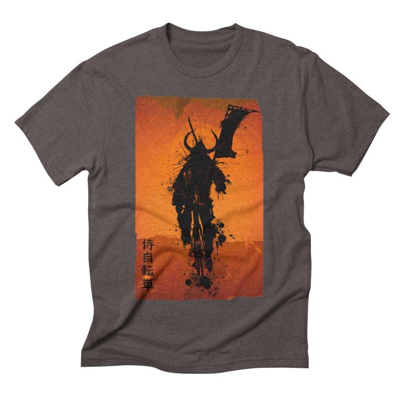 Bike Samurai in Men's Triblend T-shirt Tri-Coffee by dgeph's artist shop