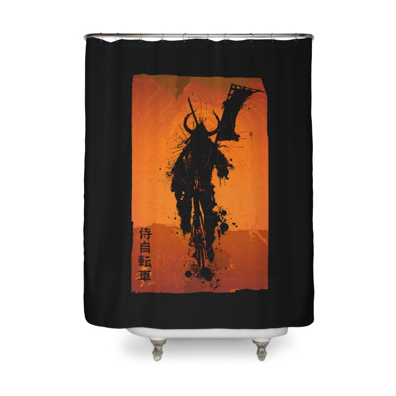 Bike Samurai Home Shower Curtain by dgeph's artist shop