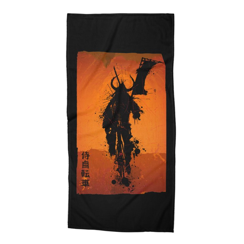 Bike Samurai Accessories Beach Towel by dgeph's artist shop