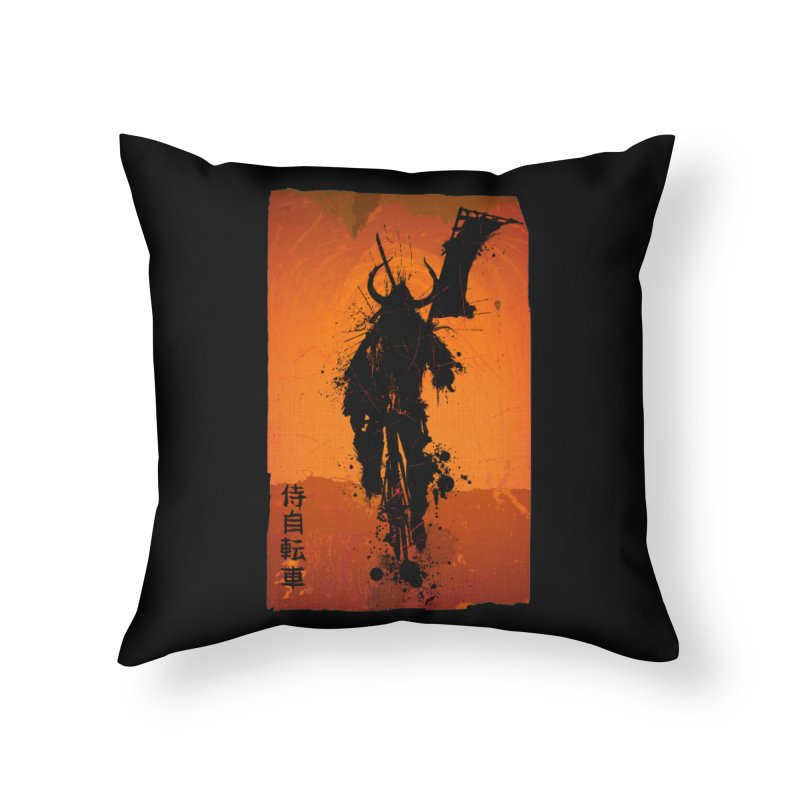 Bike Samurai Home Throw Pillow by dgeph's artist shop