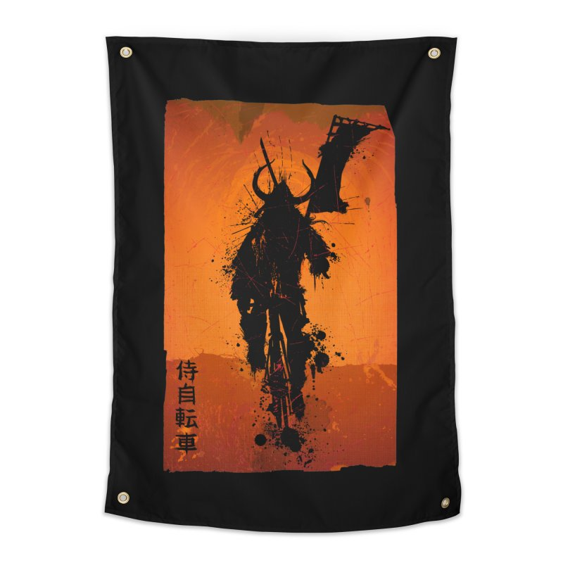 Bike Samurai Home Tapestry by dgeph's artist shop