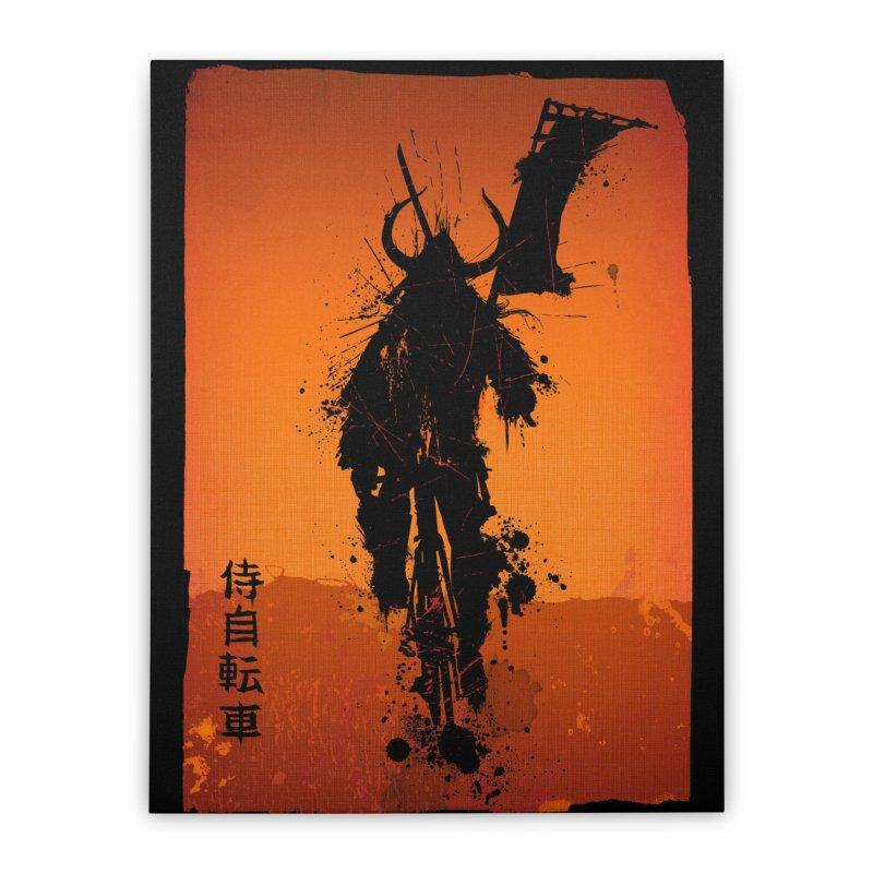Bike Samurai Home Stretched Canvas by dgeph's artist shop