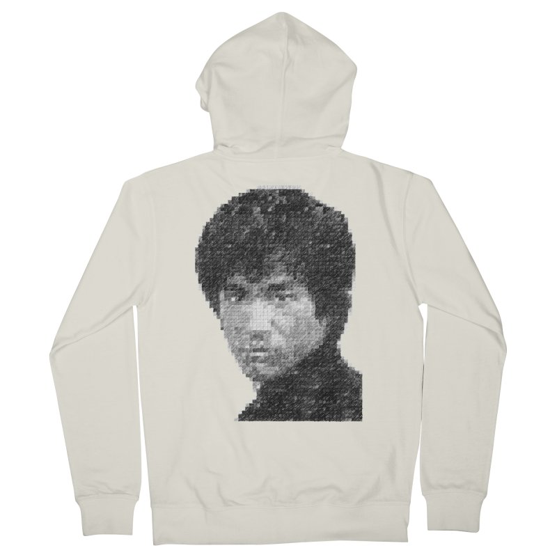 Bruce Lee (Positive Image) Men's Zip-Up Hoody by dgeph's artist shop