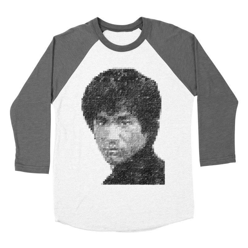 Bruce Lee (Positive Image) Men's Baseball Triblend T-Shirt by dgeph's artist shop