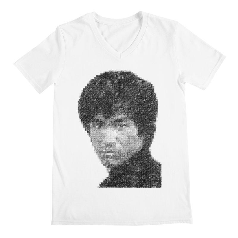 Bruce Lee (Positive Image) Men's V-Neck by dgeph's artist shop