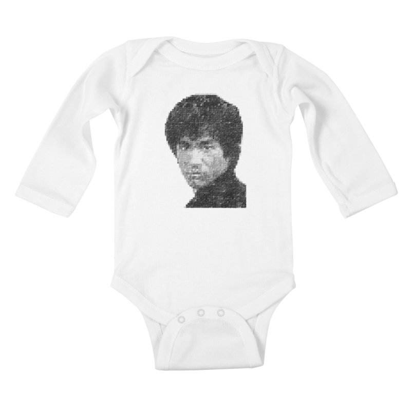 Bruce Lee (Positive Image) Kids Baby Longsleeve Bodysuit by dgeph's artist shop