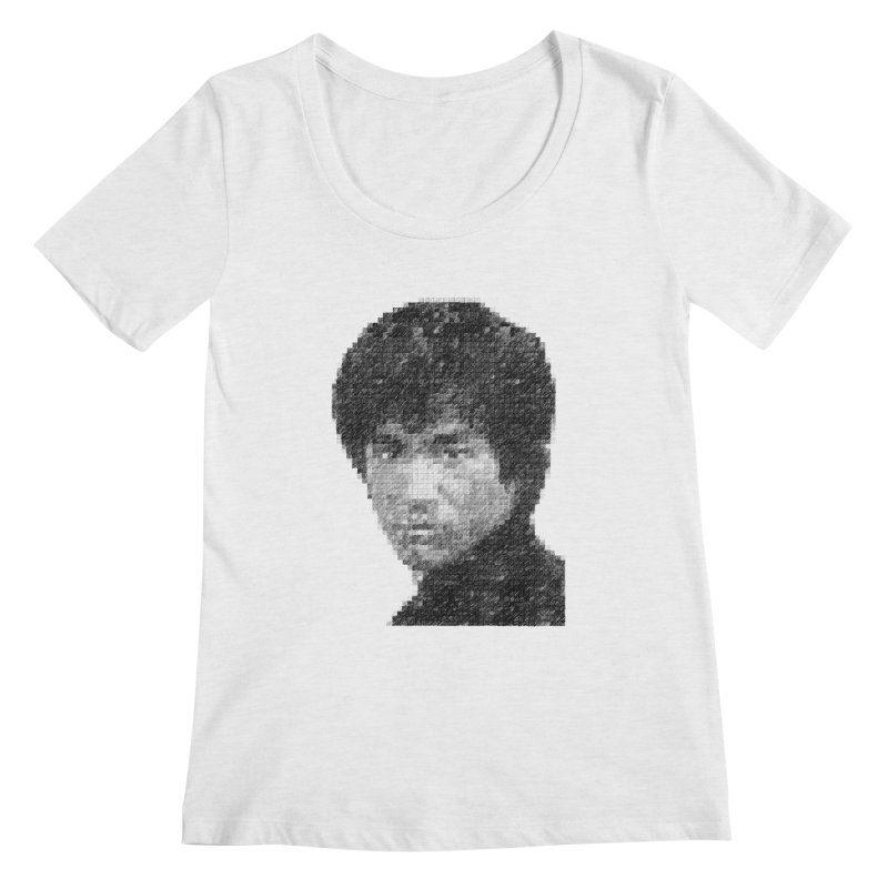 Bruce Lee (Positive Image) Women's Scoopneck by dgeph's artist shop