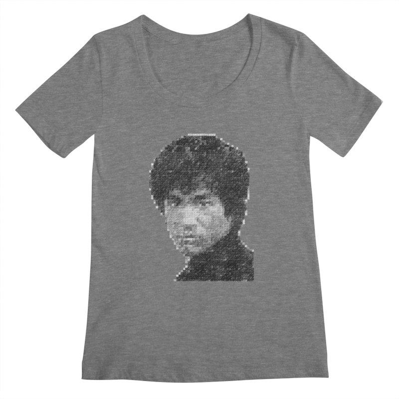 Bruce Lee (Positive Image) Women's Scoopneck by dgeph's artist shop